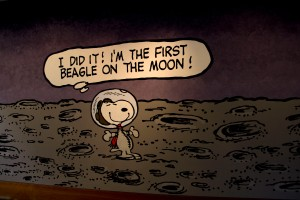 Snoopy as First Beagle on the Moon