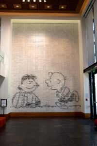 22-Foot-Tall Peanuts Tile Mural Composed of Individual Comic Strips