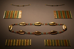 Cowrie Shell Girdle (belt) Made of Gold, Carnelian, and Feldspar (1887-1813 BC)