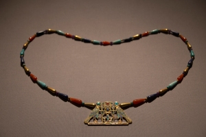 Exquisite Necklace with Two Falcons Symbolizing God Horus (1887-1878 BC)