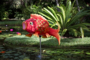 Orange Fabric Goldfish at Pond
