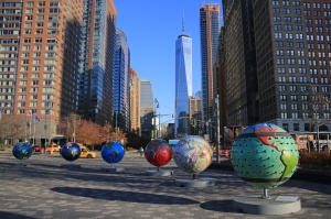 Cool Globes Exhibit at Battery Park