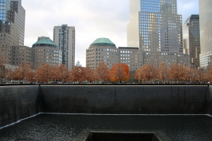 Memorial Pool and Waterfall within Footprint of Fallen North Tower of World Trade Center