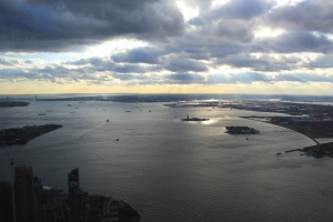 Statue of Liberty and Ellis Island in Distance