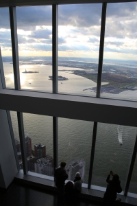 Glass Windows Looking Over Hudson River