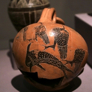 Pottery Jar Decorated with Dolphins and Birds (1749-1650 BC)