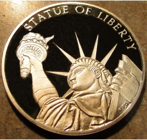 Statue of Liberty Themed Coin