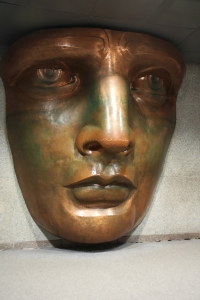 Lifesize Replica of Face in Museum