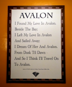 Lyrics to Avalon, Sung by Al Jolson in 1920