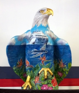 Eagle Statue at Catalina Ferry Terminal