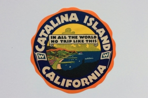 Vintage 1930s Catalina Luggage Label