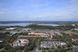 View of Big and Little Sand Lakes Looking West Toward Orlando Theme Parks
