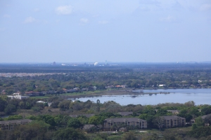 View Looking West with Round Dome of Spaceship Earth Visible at Disney's Epcot