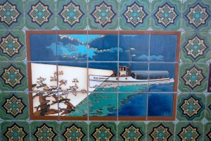Boat Spotting Flying Fish Tile