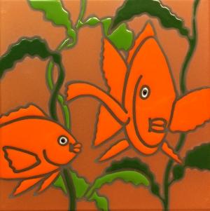 Orange Garibaldi Fish