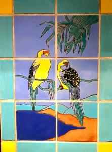 Yellow Birds Tile