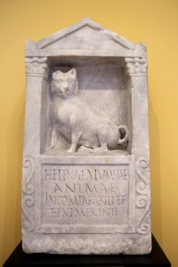Roman Tombstone Honoring Pet Dog Helena (150-200 AD)