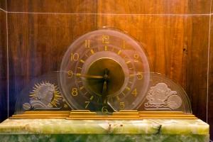 Green Onyx Art Deco Style Clock
