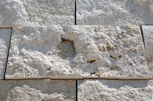 Travertine's Fossilized Crystallized Bubbles Formed in Ancient Hot Springs