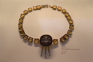 Roman Gold Coin Belt with Emeralds, Garnets, and Sapphire