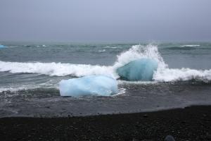 Wave Crashing onto Ice