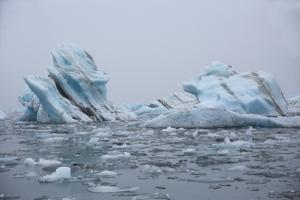 Striated Glacial Icebergs