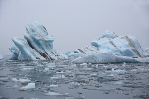 Striated Glacial Icebergs