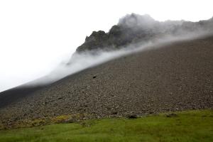 Mist Flowing Down Mountain