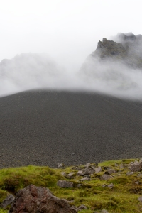 Mist Flowing Over Mountain