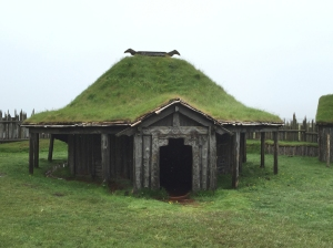 Viking Hut with Horns