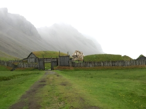 Approach to Viking Movie Set