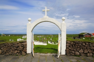 Entrance to Hvalneskirkja cemetery