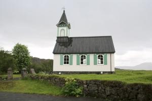 Outside of Historic Thingvellir Church