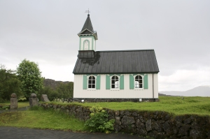 Outside of Historic Thingvellir Church