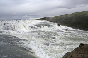 Close-up of Gullfoss First Tier Waterfall