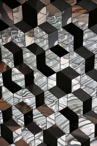 Looking up at Cubic Ceiling Pattern