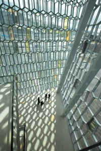 Looking Down Harpa Atrium