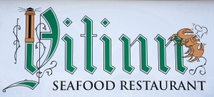 Lighthouse Theme on Vitinn Seafood Restaurant Sign