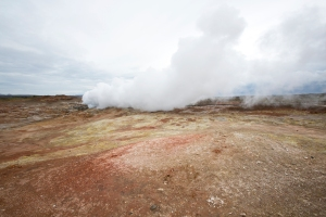 "Gunnuhver Fumerole at Reykjanes ""Smokey Point"" Geothermal Area"