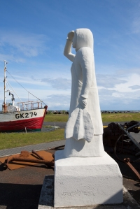 Statue of Fisherman's Lady Looking out to Sea