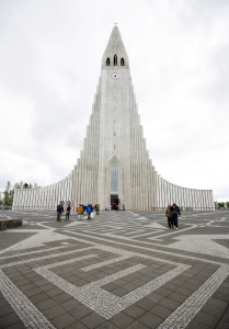 Entrance to Hallgrimskirkja Church