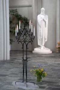 Candelabra Inside Church