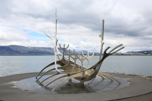 Sun Voyager Statue Nearby