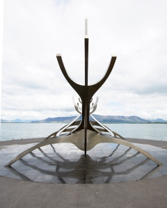Back of Sun Voyager Statue