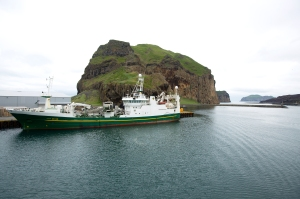 Ferry Approach to Island of Heimaey