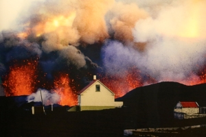 1973 Photograph of Fissure of Fire By Town
