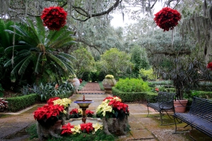Christmas Garden by Historic Home