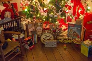 1940s Toys under Tree