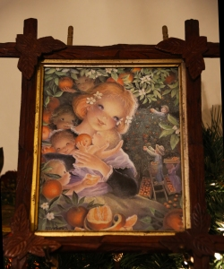 Orange Baby Painting in Historic Home