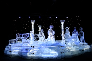 Life Size Nativity in Crystalline Ice